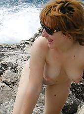 Naked MILF on vaction