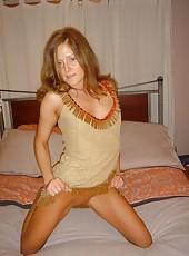 Mature redhead hottie teasing