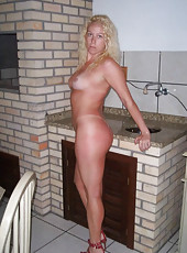 Hot-looking housewives naked and posing