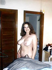 Busty housewife naked and spreading
