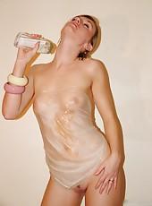 Gorgeous naked UK wives posing