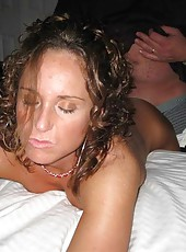 Sexy and buffed housewife sucking cock