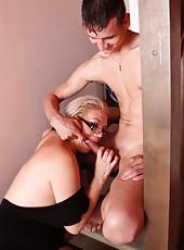 Unbelievably hot mom-next-door gets all of her holes filled