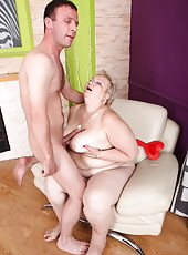 Mommy�s rough fuckmate spanks and bangs her so damn hard