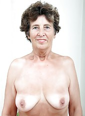 Very old woman shows how beautiful she once were