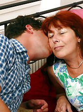 Young stud fucks old woman from every single angle