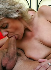 Miniature granny enjoys a cock of her young lover