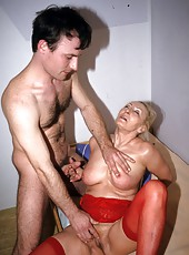 Beautiful old sluts enjoy sex with young lovers