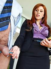 2 smoking hot ass mini skirt business babes fuck their new hires hot cumfaced office groups sex pics