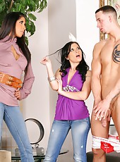 4 super hot fucking amazing babe photographers fuck a big dong model in these hot cumfaced 4some pics