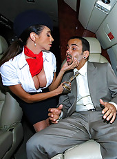 2 smoking hot ass long leg big tits airline hostesses get fucked in this mid air 3some super hot fucking update