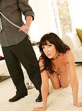 Slut agrees to play doggy while getting boned!