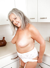 Sweet loving mom massages her jaw dropping tits