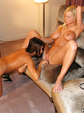 HotWifeRio and NaughtyAllie have some fun while their husbands watch