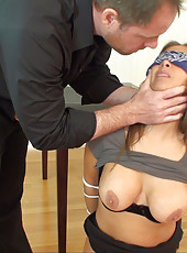 HotWifeRio gets tied up and fucked for being a slut and cheating on her husband