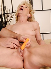 Margarette is never too old for the big orgasm
