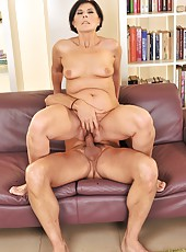 Margo T is masturbating and fucking with her man