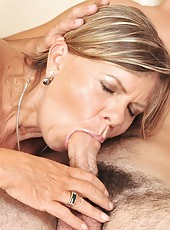 Horny and lusty granny fucking with a young guy