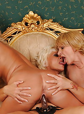 Experienced ladies fucking with horny young girl