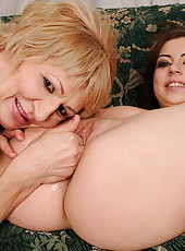 Andi having lesbo sex with her much older teacher