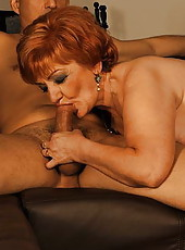 Hot mature madam sucking and getting fucked hard