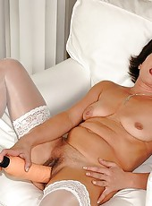 Horny mature fisting with a young girl and boy