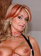 Kinky grandma Karola gets fresh cock into her ass
