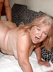 Old fat Dominika fucking hard with her own son