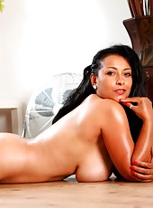 Danica shows off her gorgeous curves in nothing but heels