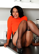 Danica stripping from her jumper and pantyhose