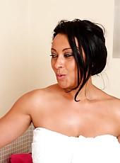 Danica slips into a nice hot bubble bath