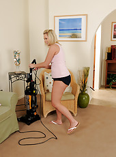 32 year old Anna Joy from AllOver30 making housework look great
