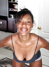 30 year old ebony MILF Jayden from AllOver30 does a naked workout