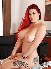 Paige Licks Her 38Fs Pierced Nipple