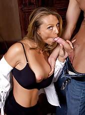 Mature Blonde Brenda James Sprayed With Cum After Good Fuck