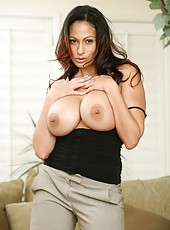Super Busty Milf Ava Lauren Works Young Cock With Mouth