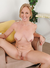 50 year old Jenna Covelli from AllOver30 shows off massive nipples