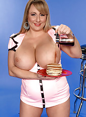 Huge Boobed Waitress