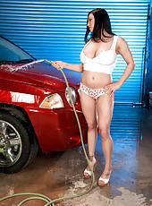Busty Car Wash Babe