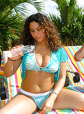 These 2 big tittied babes are rockin out those huge glistning globes here in these pics