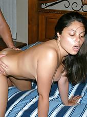Bueatiful big natty latina taking it from the back