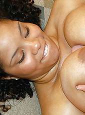 Check out these huge tities get creamed on