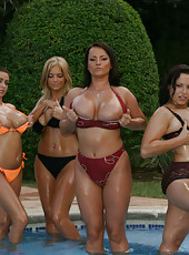 Get a load of these steamy hot euro babes with thier giant titties