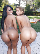 Black cunts with thick butts making a brother happy
