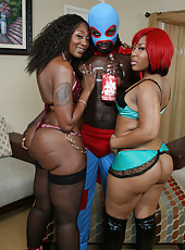 Captain Save-a-hoe fucks two big booty black chicks!