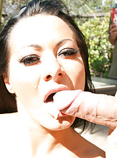 Sandra shows off her curves and fucks a stranger