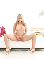 Shayla is a milky white big titty love milf