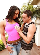 Romeo sure got hard   just watching her strip down and he oiled her chiseled physique down