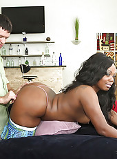 Amazing tight pants round and brown ebony teen gets her mega tight ass pounded