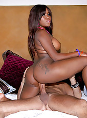 Hot black ass beer can crushing ebony nailed hard in these cumfaced fuck pics